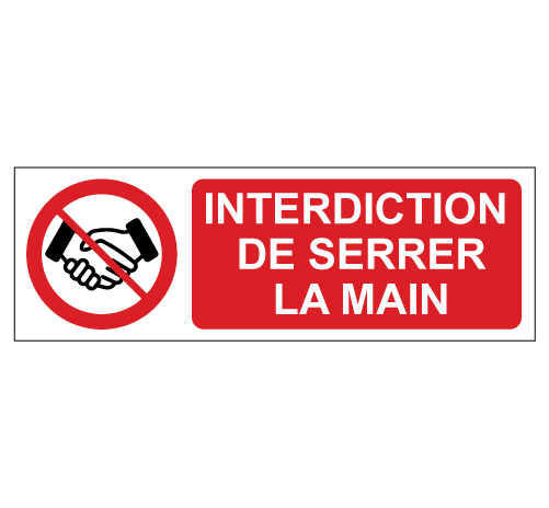 Interdiction de se serrer la main