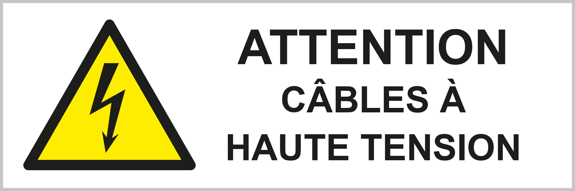 Cables à haute tension